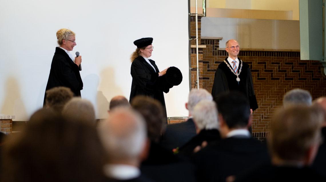 Mechteld Jansen en Maarten Wisse bij de Opening Academisch Jaar van de PThU 2021